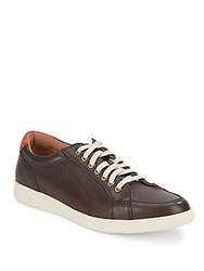 Cole Haan Lace Up Leather Sneakers Deep Espresso