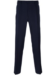 Massimo Piombo Mp Pleated Flannel Trousers Blue