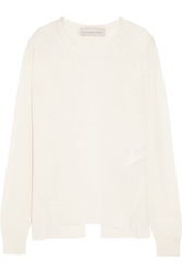 Stella Mccartney Open Back Cashmere And Silk Blend Sweater