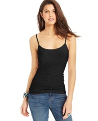 Planet Gold Juniors' Spaghetti Strap Tank Top Black