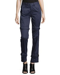 Opening Ceremony Yan Straight Leg Trousers Navy