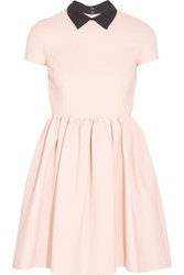 Miu Miu Ribbed Stretch Jersey Mini Dress Blush