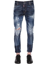 Dsquared 17Cm Tidy Biker Fit Ripped Denim Jeans