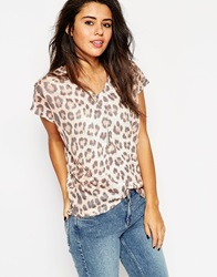Asos Sleeveless Top In Leopard Print Multi