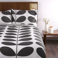 Orla Kiely Giant Stem Print Duvet Cover Granite Super King
