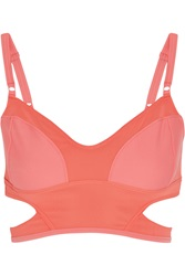 Adidas By Stella Mccartney Swim Cutout Bikini Top