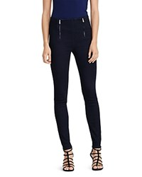 Ralph Lauren Zip Front Denim Skinny Pants Ink