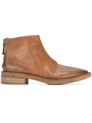Marsell Marsa Ll Almond Toe Ankle Boots Brown