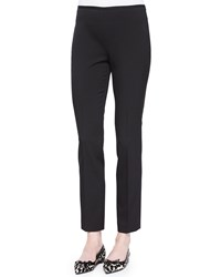 Michael Kors Collection Side Zip Stretch Wool Skinny Pants Women's Size 12 Black