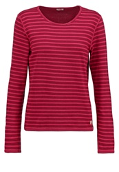 Armor Lux Long Sleeved Top Dunkelrot Dark Red