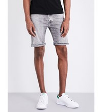 Replay Anbass Mid Rise Cotton Shorts Grey Washed