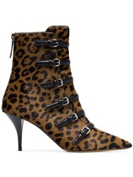 Tabitha Simmons Dash 75 Buckle Ankle Boots Brown