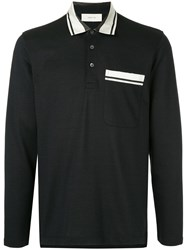 Cerruti 1881 Long Sleeved Polo Shirt Black