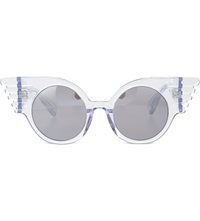 Jeremy Scott Winged Corner Sunglasses Clear