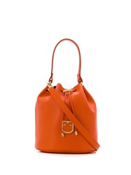 Furla Corona Bucket Bag Orange