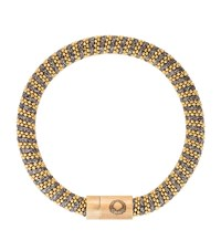 Caro Gold Plated Woven Bracelet Female Yellow