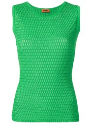 Missoni Sleeveless Knitted Top Green