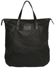 Diesel Coated Denim And Rubberized Print Tote Bag