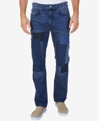 Nautica Men's Straight Fit Stretch Patchwork Jeans Nitsurfwsh