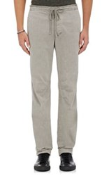 James Perse Men's Cotton Drawstring Trousers Grey