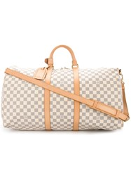Louis Vuitton Vintage Bandouliere Monogram Holdall Nude And Neutrals