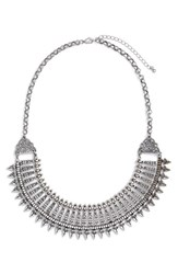 Junior Women's Bp. Metal Collar Statement Necklace Silver Burnish