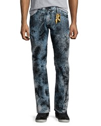 Robin's Jean Paint Splatter Denim Jeans Black