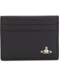 Vivienne Westwood Milano Small Horizontal Fold Leather Card Holder Black