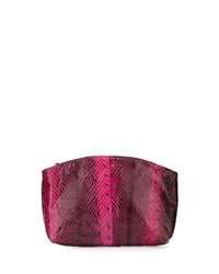 Beirn Small Python Cosmetic Pouch Pansy Bright Pink