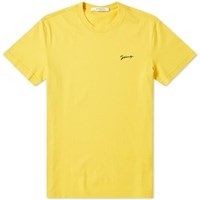 Givenchy Slim Fit Small Script Logo Tee Yellow