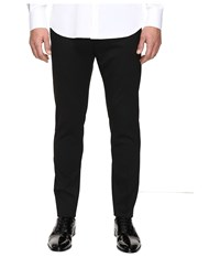 Dsquared Admiral Chic Fit Stretch Wool Pants Black Men's Casual Pants