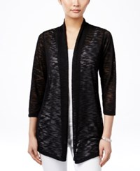 Jm Collection Lace Back Open Front Cardigan Only At Macy's