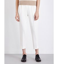 Max Mara Bonito Tapered Crepe Trousers White