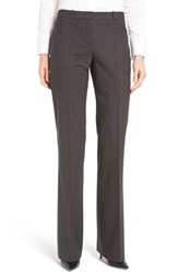 Boss Women's Tulea3 Straight Leg Stretch Wool Trousers