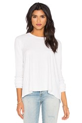Wilt Cotton Cashmere Mixed Trapeze Sweater White