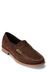 Cole Haan 'Pinch Grand' Penny Loafer Brown Suede