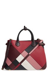 Burberry Medium Banner Patchwork Leather Satchel