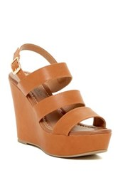 Elegant Footwear Summer Platform Wedge Sandal Brown