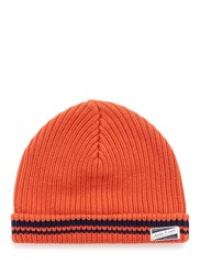 Scotch And Soda Cotton Beanie Orange