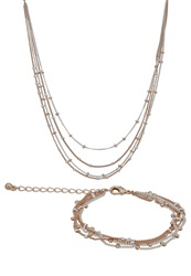Kiomi Set Bracelet Copper Silver Coloured