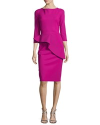 La Petite Robe Di Chiara Boni 3 4 Sleeve Peplum Cocktail Dress Cilamino