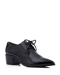 Marc Fisher Ltd. Etta Leather Pointed Toe Oxfords Black