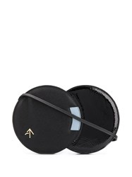 Manu Atelier Round Layered Shoulder Bag Black