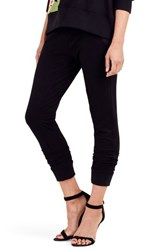 True Religion Women's Brand Jeans Embroidered Jogger Pants Black