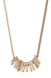 Melrose And Market Multi Square Bead Necklace Metallic