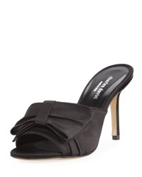 Charles David Sasha Satin Mule Pump Black