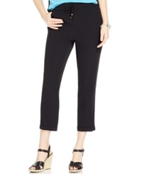 Jones New York Collection Petite Drawstring Cuffed Tapered Pants