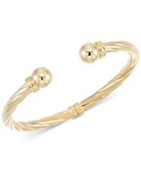 Macy's Rope Style Hinged Cuff Bracelet In 14K Gold