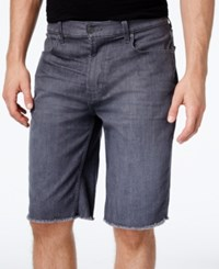 Lrg Men's Monochrome Straight Fit Cutoff Denim Shorts Gray
