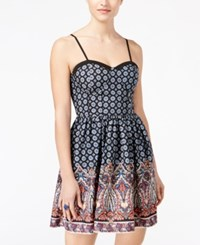 American Rag Juniors' Sleeveless Printed A Line Dress Only At Macy's Black Combo
